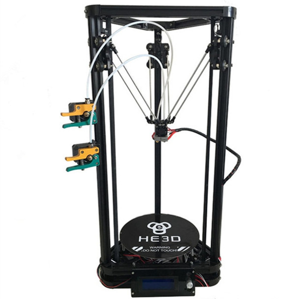 HE3D K200 dual heads delta 3d printer kit autoleveling full metal extruder hotend with heatbed- support multi material