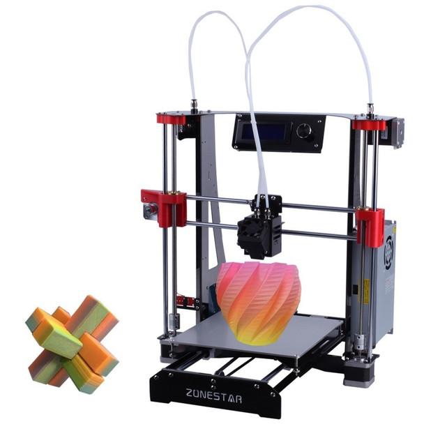 ZONESTAR Hot Sale Cheap Dual Extruder Black Metal A8 i3 Auto Mix Open Source Upgrade Laser Engraving RepRap 3D Printer DIY Kit