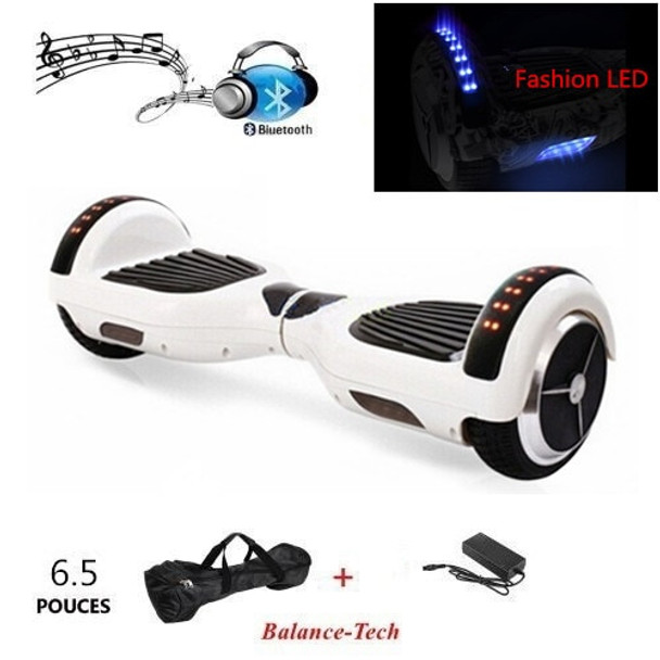 EUR Stock Hoverboard 6.5Inch Bluetooth Electric Balance Scooter Overboard Self Balancing Scooter Wheels LED
