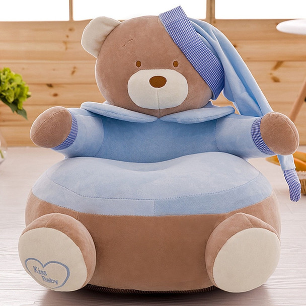 Children Seat Sofa Washable Only Cover No Filling Kids Bean Bag Cartoon Bear Skin Upscale Baby Chair Toddler Nest Puff Seat