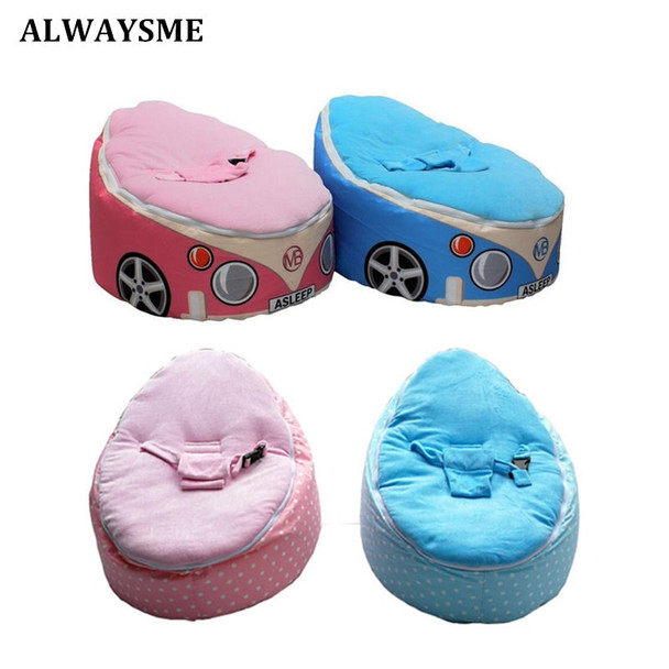 ALWAYSME Baby Kids Children Bean Bags Chairs With Adjustable Harness Baby Seats Sofa Toddler Chair Seats With Or Without Filler