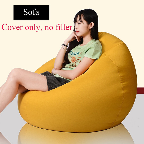 Bean Bag Sofa Cover Lounger Chairs Sofa Ottoman Seat Living Room Furniture No Filler Beanbag Beds Pouf Puff Couch Lazy Tatami