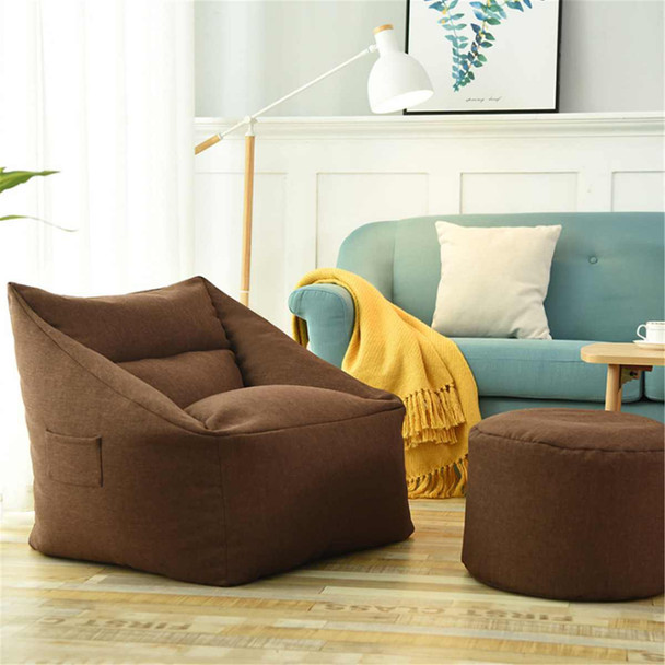 Washable Beanbag Sofas Waterproof Bean Bag Lazy Sofa Indoor Seat Chair Cover Large Bean Bag Cover Armchair Cozy Game Yellow