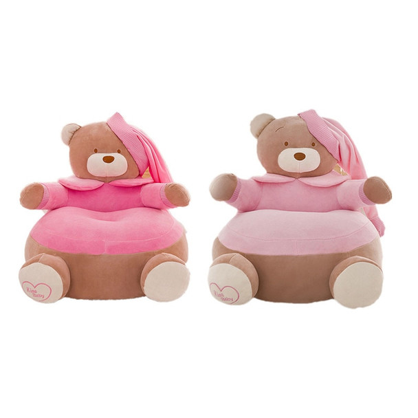 Only Cover No Filling Baby Chair Toddler Nest Seat Upscale kids Children Seat Sofa Washable Kids Bean Bag Cartoon Bear Skin cute