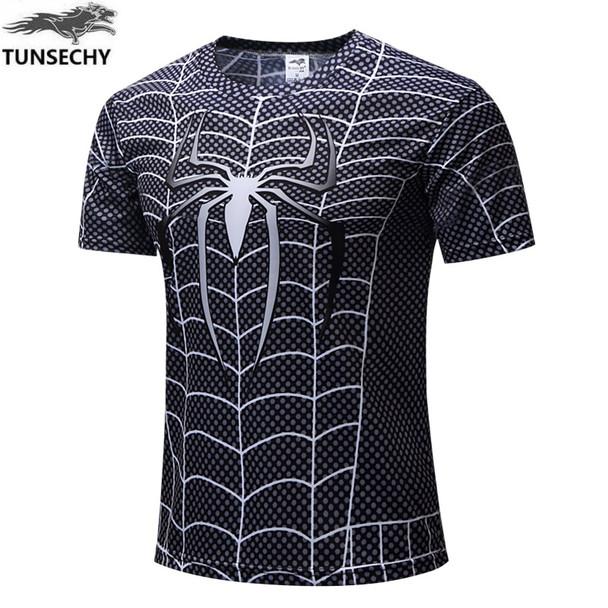 NEW 2018 Marvel Super Heroes Avenger Captain America Batman Tshirt Men Compression Base Layer Thermal Under Causal Shirt