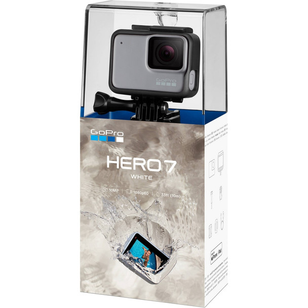GoPro HERO7 White - Waterproof Digital Action Camera with Touch Screen 1440p HD Video 10MP Photos HERO 7