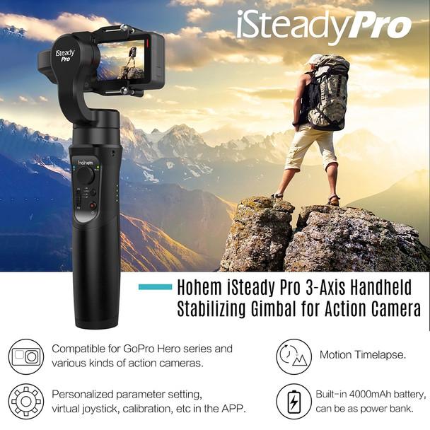 Hohem iSteady Pro Handheld 3-Axis Gimbal Stabilizer for action camera Gopro 6 5 4 RX0 xiaomi yi 4k PK zhiyun smooth 4 feiyu g6