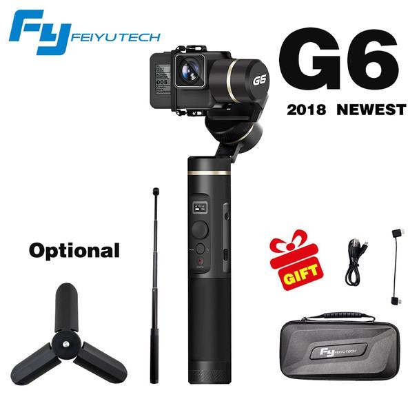 FeiyuTech Feiyu G6 3 Axis Handheld Gimbal Stabilizer for action camera Gopro 6 5 4 RX0 xiaomi yi 4k Wifi Blue Tooth OLED Screen
