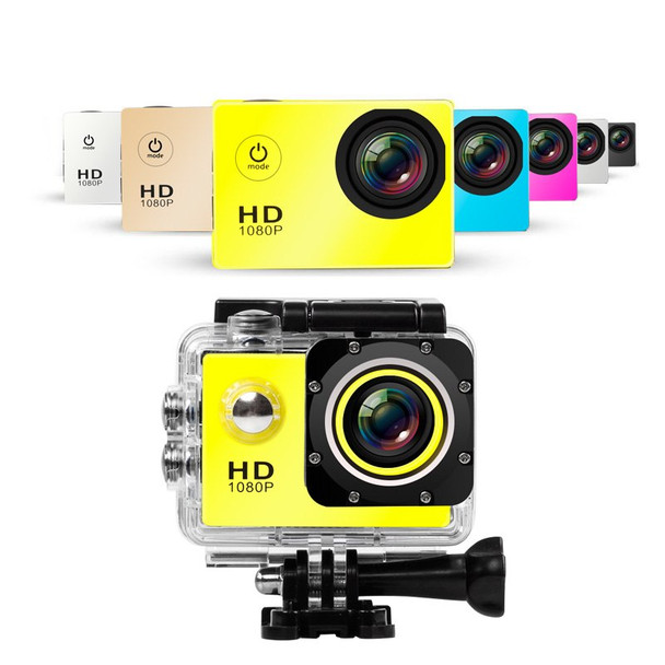 """Water proof Mini Camera Full HD 1080P Action Sport Camcorder Outdoor gopro style go pro 2"""" Screen Cam Recorder DV resistant"""