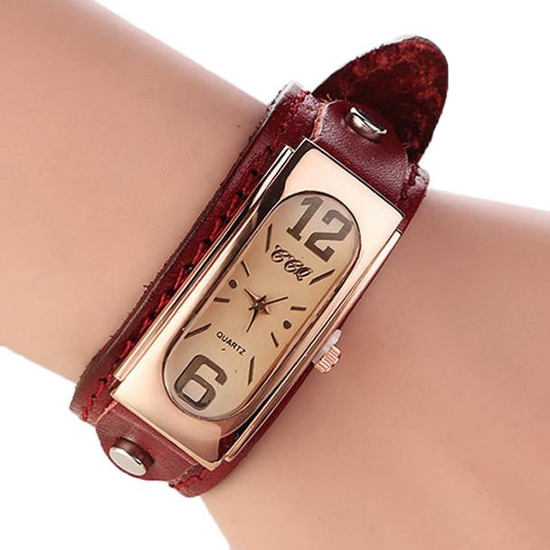 New Fashion Unisex Retro Genuine Leather Dress Watchwrist For Women Ladies Vintage Bracelet Strap Watch Relogio Feminino W2021