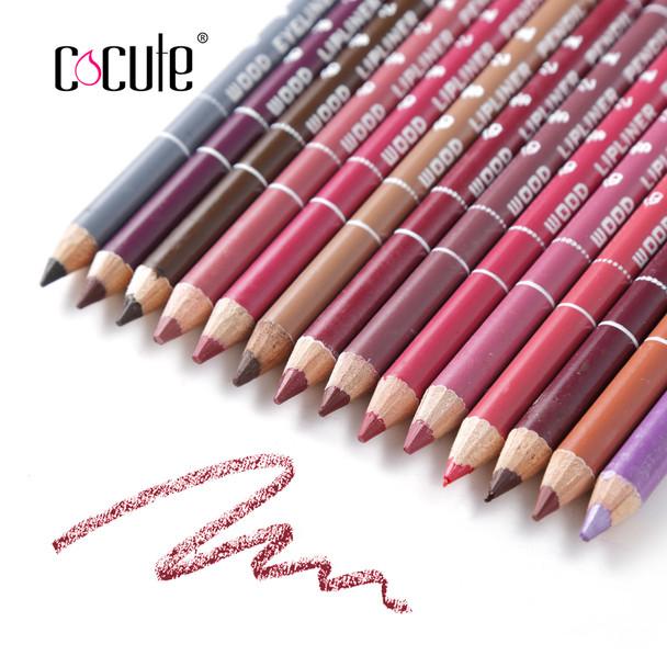 12/14pc Colors Professional Lipliner Pencil Waterproof Lip Liner Contour Cosmetics Multi-Colors Lipliner Pen Makeup Set
