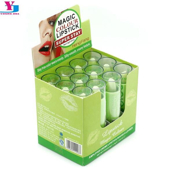 12pcs Professional Lipstick Magic Colour Temperature Change Color Lip Balm Moisture Long Lasting Lip Balm Makeup Brand Wholesale