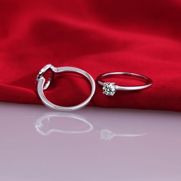 0.25 carat ceremony fashion ring 925 sterling silver jewelry bridal ring sets US size from 4 to 10.5 (DFE)