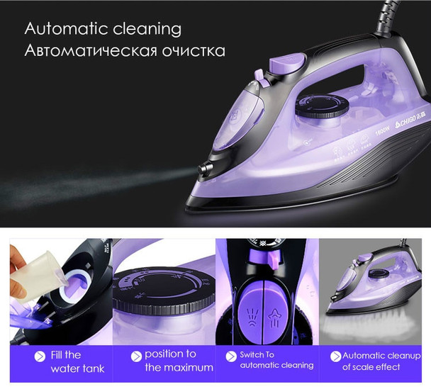 1600W Portable Handheld Clothes Garment Steamer Household Mini Electric Irons with Large Ceramics Board Convenient Ironing Tool