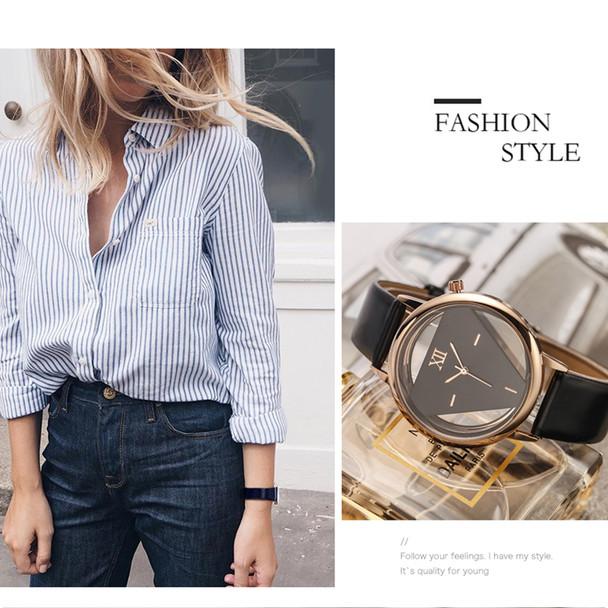 2017 GEEKTHINK Brand Unique Design Quartz Analog Hollow Style WristWatch Woman fashion ladies Casual watch Female Girls clock