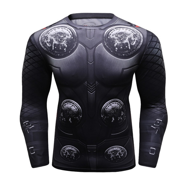 Men marvel Avengers 3 THOR 3D Printed T shirts Compression Shirt 2018 Cosplay Costume Long Sleeve Tops Male Crossfit Fitness Tee