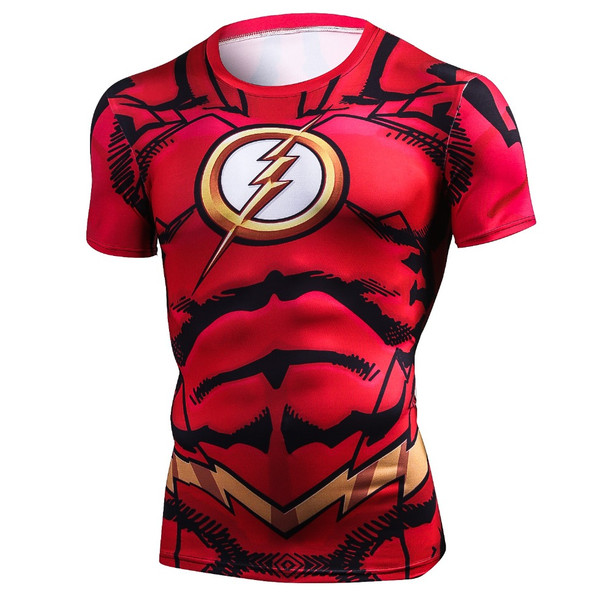 Marvel Cosplay Costume Green Lantern Superheros Ironman 3D Print Compression Shirt Tops Mens Short Sleeve T-Shirt 2018 Clothes