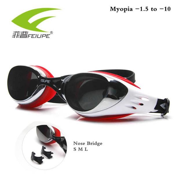 FEIUPE Myopia Swim Goggles Swimming Glasses Anti Fog UV Protection Optical Waterproof Eyewear for Men Women Adults Sport Kids