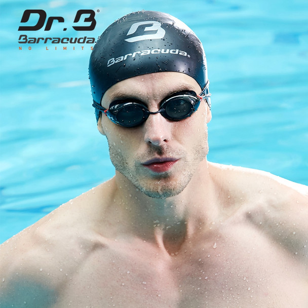Barracuda Dr.B Optical Swimming Goggles Anti-fog UV Protection No leaking Easy adjusting for Adults Men Women Black #32295