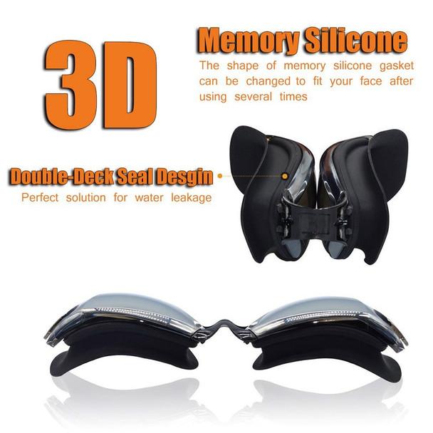 Adult swim goggles Waterproof swimming goggles suit HD Anti-Fog 100% UV adjustable prescription glasses for pools swiming