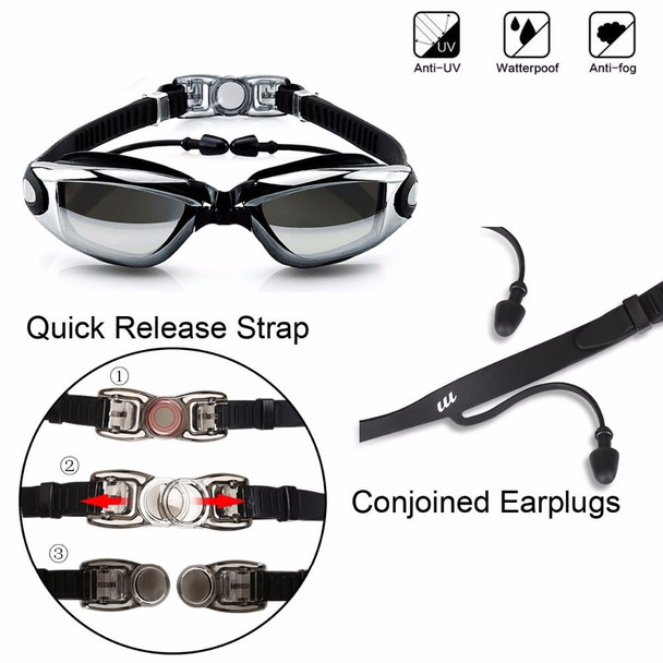 Adult swim goggles Waterproof swimming goggles suit HD Anti-Fog 100% UV adjustable prescription glasses for pools swiming