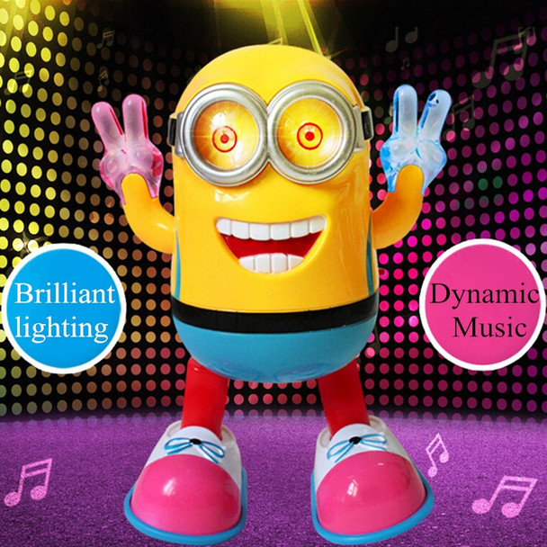 Electric Toys Despicable ME3 Minion Dancing Robot Kids Educational Toy With Light And Music Small Yellow People Children's Gift