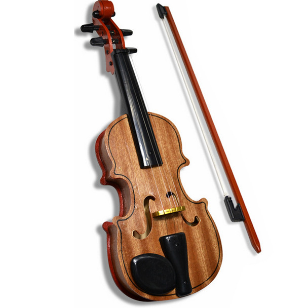 High Emulational Wooden Adjustable Strings Violin Kids Educational Simulation Children Musical Instrument Toys with Base Bow