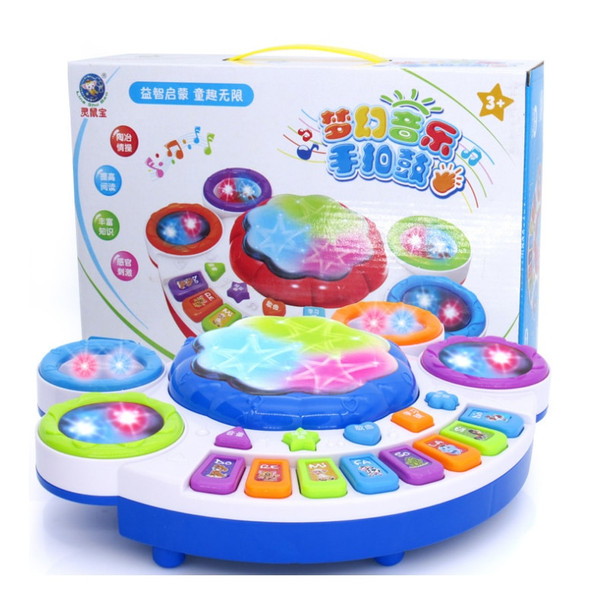 Baby Electric Hand Beat Drums Children 's Music Pat Drum Electronic Piano Baby Toys Dream Music Light Drums Smart Toys