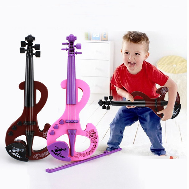Mini Electric Violin Earlier Childhood Music ABS Instrument Toy Simulation Violins 2 Colors For Children Toys TC0010