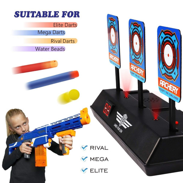 Electric Scoring Auto Reset Shooting Digital Target for Guns Blaster DIY High Precision Scoring Target Christmas Gifts For Kids