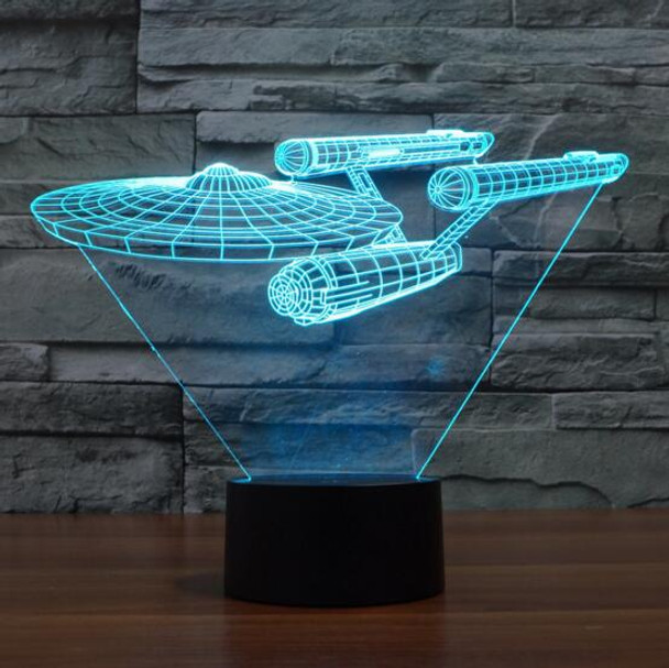 Movie Star Trek Nigh Light Lamp Scale Models Startreck Star Wars Light Models Kids Toys Battleship Starfleet Raumschiff Llaveros