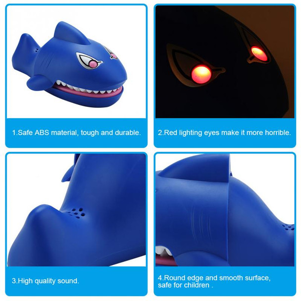 Children's Funny Trick Toys Electric Shock Shark Mouth Bite Finger Toys With Sound & Light Trick Roulette Game Gag Toys For Kids