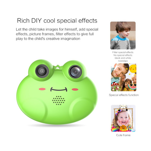 1.54 Inch 12MP 1080P Mini LSR Cam Digital Camera for Kids Baby Cute Cartoon Multifunction Toy Camera Children Birthday Best Gift