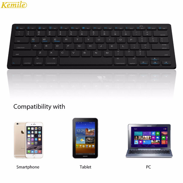 Kemile Wholesale Professional Ultra-slim Wireless Keyboard Bluetooth 3.0 Keyboard Teclado for Apple for iPad Series iOS System