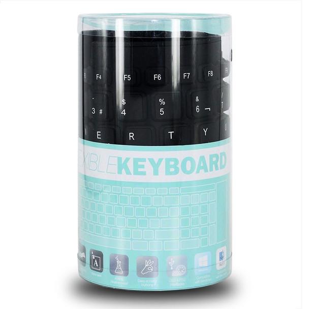 Spanish Language 84 Key Wired Folding Soft Flexible Silicone Keyboard for ASUS Lenovo Acer Gateway HP PC Laptop Desktop Computer