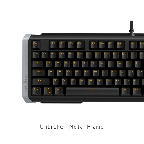 Ergonomic Anti-ghosting 104 Keys Gaming Mechanical Keyboard with USB Wired LED Backlight for Mac Desktop PC Gamer Black or White