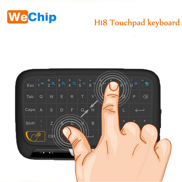 Wechip Mini H18 Wireless Keyboard 2.4 G Portable Keyboard With Touchpad Mouse for Windows Android Smart TV Linux Windows Mac
