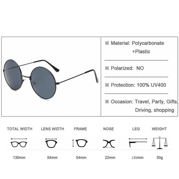 2018 Vintage Women Round Sunglasses Men's Brand Designer Sun Glasses Ladies Spectacles Oculos de Sol Feminoculos