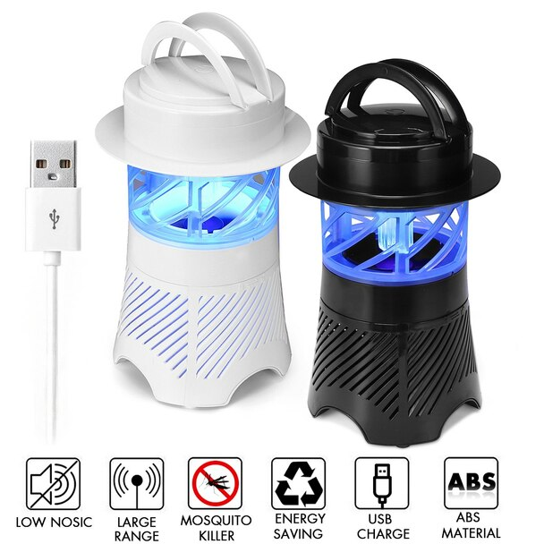 3W Electronic Mosquito Killer Lamp USB Insect Killer Lamp Bulb Pest Trap Light For Camping Ultraviolet Light Bug Fly Zapper Lamp