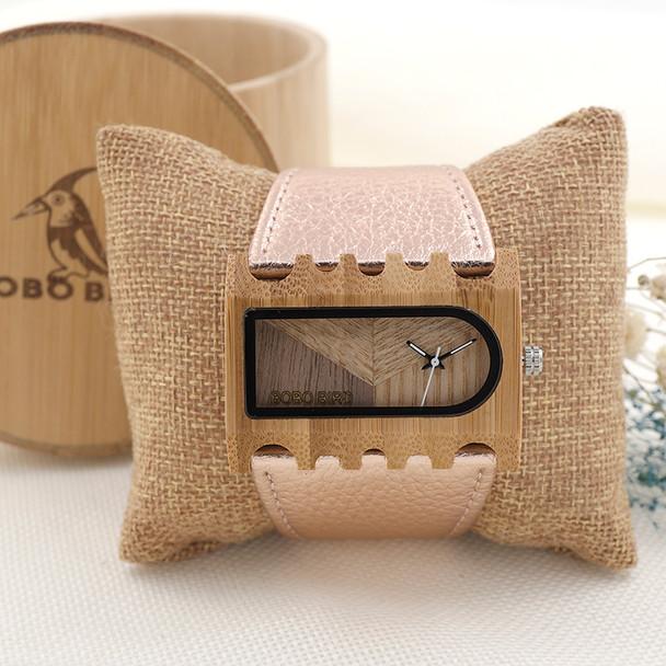 2017 BOBO BIRD Quartz Ladies Wooden Watch Genuine Leather Women Watches Fashion Brand Wristwatch relogio feminino