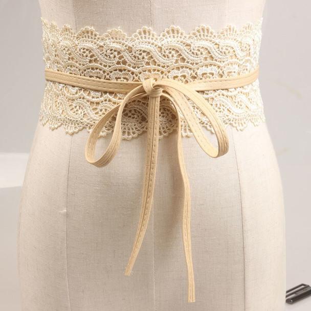 220x10cm Casual Sexy slim belts corset female brown girdle cummerbund women's fashion accessories Bowknot lace wide belt N161