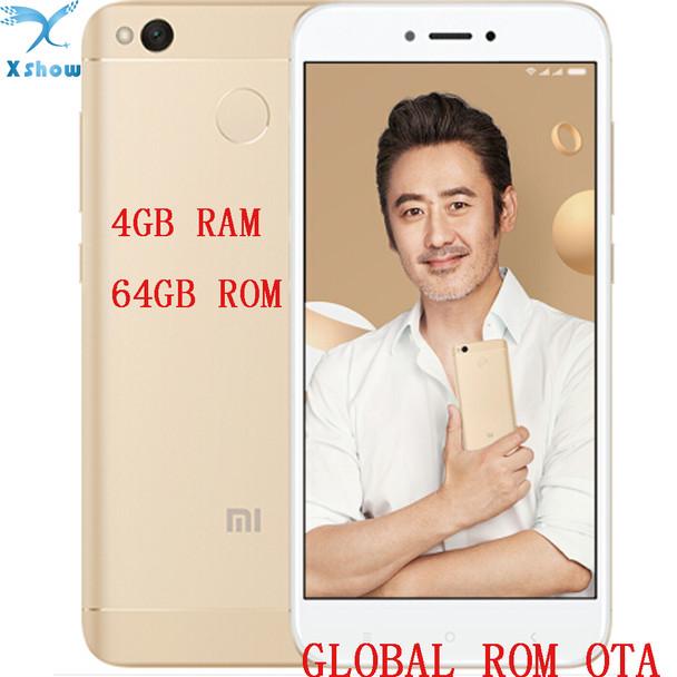 "brand new Xiaomi Redmi 4X pro prime 4GB RAM 64GB ROM Fingerprint Snapdragon 435 OctaCore 5.0"" 720P 13MP Camera  mobilephone"