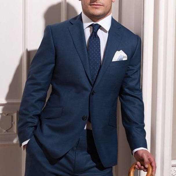 Custom MADE TO MEASURE Blue Groom Wedding Suits For Men,BESPOKE Men Suit,TAILORED Blue Tuxedos For Men Blue Slim Fit Wool Suits