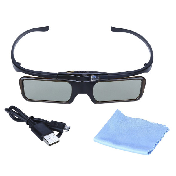 BOBLOV MX30  96-144Mhz Frequency DLP Active 3D Glasses USB Shutter Rechargeable 3D DLP Glasses For Optoma/BenQ/Sharp