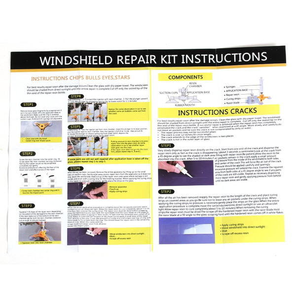 1Set New Professional Creative Practical Car Auto Glass Windshield Windscreen Instrument Repair Kit DIY Glass Repair Tool
