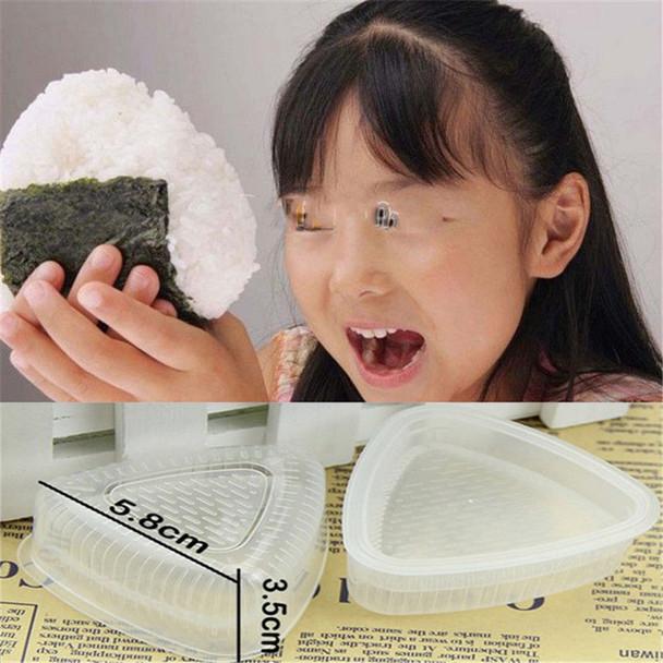 2PCS/1 Set Sushi Mold Onigiri Rice Ball Bento Press Maker Mold DIY Tool
