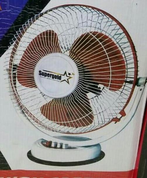 "Supergold Long Lasting portable desk Fan 12"""