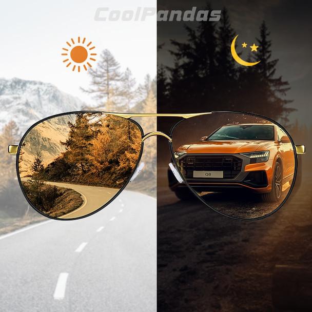2019 Intelligent Photochromic Polarized Men's Sunglasses Day Night Vision Safe Driving Sun Glasses Women oculos de sol masculino