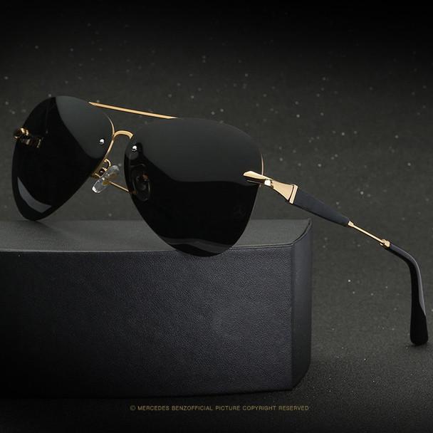 2019 high quality Frameless Polarized Sunglasses Men uv400 Brand Designer Oculos De Sol Driving Fishing Sun Glasses Mercedes