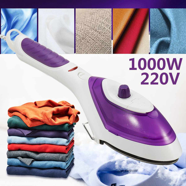 1000W 220V Handheld Clothes Garment Steamer Fast-Heat Portable Steam Iron Home Travel EU Plug Capacity 70ml Strong Hotels Simply